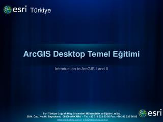 ArcGIS Desktop  Temel Eğitimi
