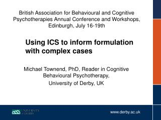 Using ICS to inform formulation with complex cases