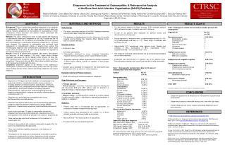 Ertapenem for the Treatment of  Osteomyelitis: A Retrospective  Analysis