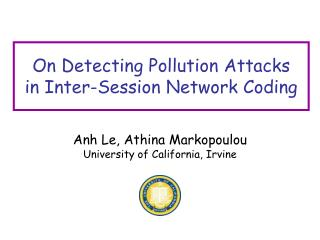 On Detecting Pollution Attacks in Inter-Session Network Coding