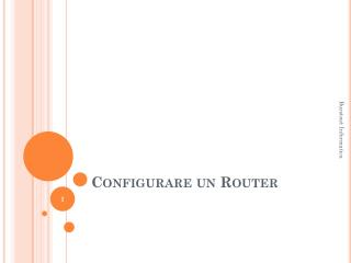 Configurare un Router