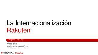 La Internacionalización Rakuten