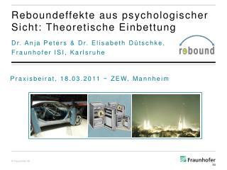 Reboundeffekte  aus psychologischer Sicht: Theoretische Einbettung