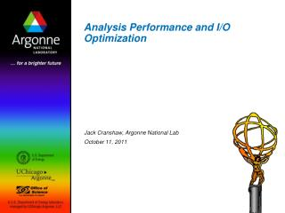 Analysis Performance and I/O Optimization