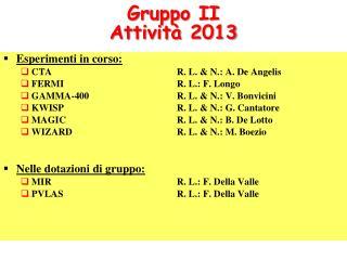 Gruppo  II Attività  2013