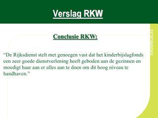 Verslag RKW