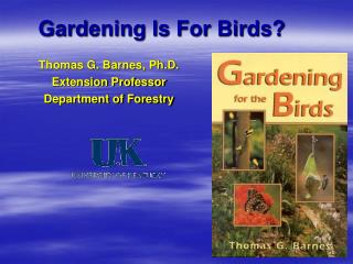 Gardening Is For Birds