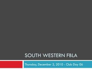 South Western FBLA