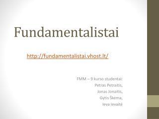 Fundamentalistai