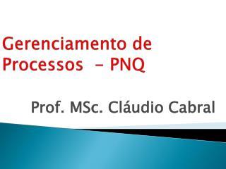 Gerenciamento de Processos  - PNQ