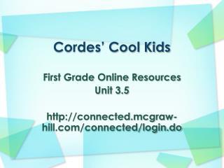 Cordes' Cool Kids