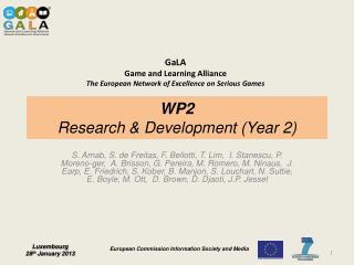 WP2 Research & Development (Year 2)