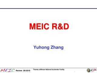 MEIC R&D
