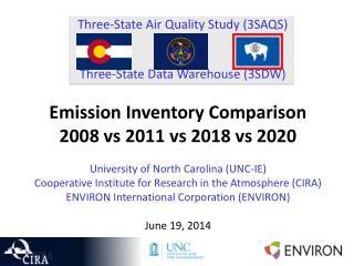 Three-State Air Quality Study (3SAQS) Three-State Data Warehouse (3SDW)