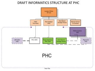 DRAFT INFORMATICS STRUCTURE AT PHC