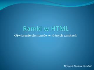 Ramki w HTML