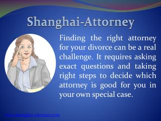 Select a Good Divorce Lawyer in China