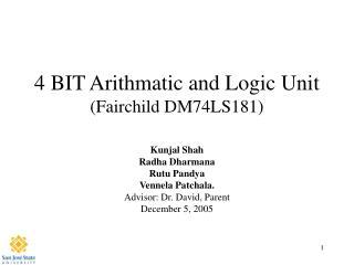 4 BIT Arithmatic and Logic Unit Fairchild DM74LS181