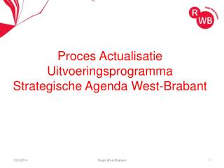 Proces Actualisatie Uitvoeringsprogramma  Strategische Agenda West-Brabant