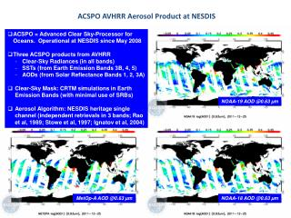 ACSPO AVHRR Aerosol Product at NESDIS