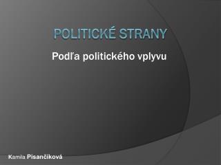 Politické strany
