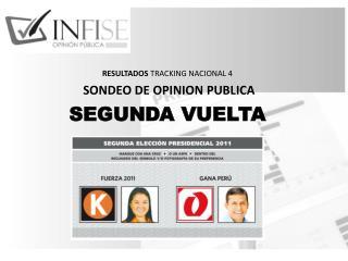 RESULTADOS  TRACKING NACIONAL  4  SONDEO DE OPINION PUBLICA SEGUNDA VUELTA