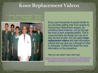 knee replacement videos