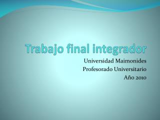 Trabajo final integrador