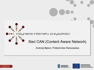 Sieć CAN (Content  Aware  Network) Andrzej Bęben, Politechnika Warszawska