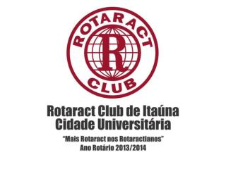 WORKSHOP ROTARACT – PRÉ ADIRC 2014