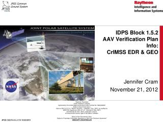 IDPS Block 1.5.2  AAV Verification Plan Info:  CrIMSS EDR & GEO