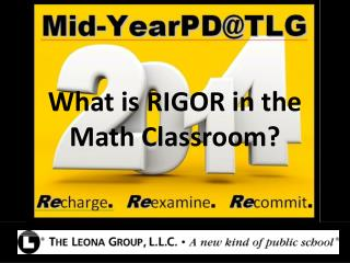What is RIGOR in the Math Classroom?