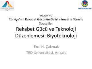 Erol H. Çakmak TED  Üniversitesi, Ankara