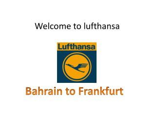 Welcome to  lufthansa