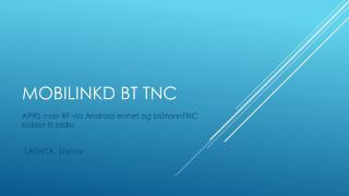 Mobilinkd  BT TNC
