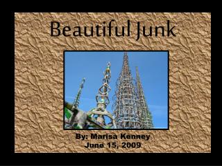 Beautiful Junk By: Marisa Kenney June 15, 2009