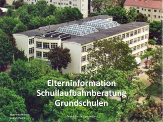 Elterninformation Schullaufbahnberatung Grundschulen