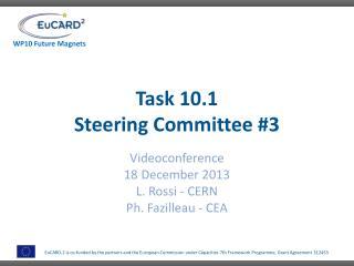 Task 10.1 Steering Committee #3
