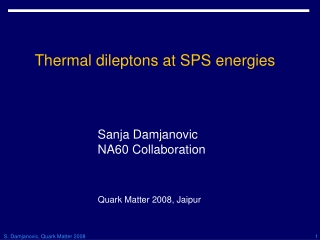 Thermal dileptons at SPS energies
