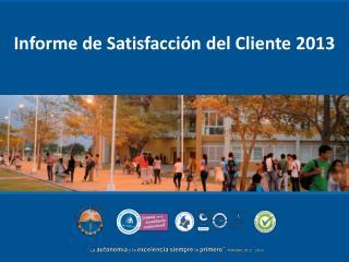 Informe de Satisfacción del Cliente 2013