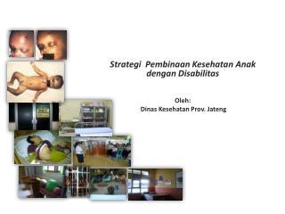 Strategi Pembinaan Kesehatan Anak dengan Disabilitas Oleh : Dinas Kesehatan  Prov.  Jateng