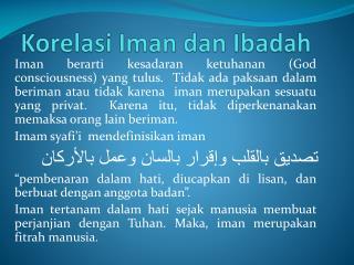 Korelasi Iman dan Ibadah