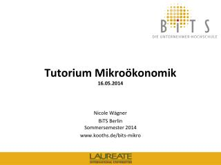 Tutorium Mikroökonomik 1 6.05.2014