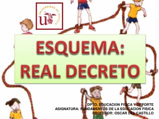 ESQUEMA: REAL DECRETO