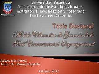 Tesis Doctoral Modelo Cibernético de Gerencia de la Red Conversacional Organizacional