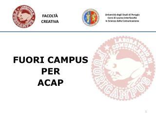 Università degli Studi di  Perugia Corsi di Laurea interfacoltà in  Scienze della Comunicazione