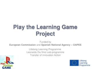 Play the Learning Game Project