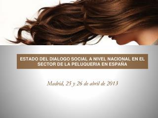 ESTADO DEL DIALOGO SOCIAL A NIVEL NACIONAL EN EL SECTOR DE LA PELUQUERIA EN ESPAÑA