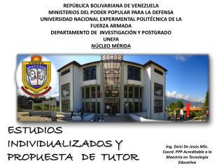REPÚBLICA BOLIVARIANA DE VENEZUELA MINISTERIOS DEL PODER POPULAR PARA LA DEFENSA