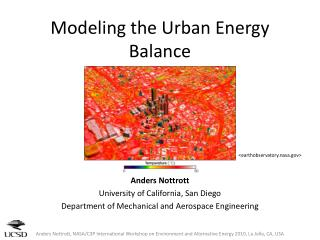 Modeling the Urban Energy Balance
